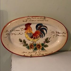 Decorative Rooster Plate with hanger
